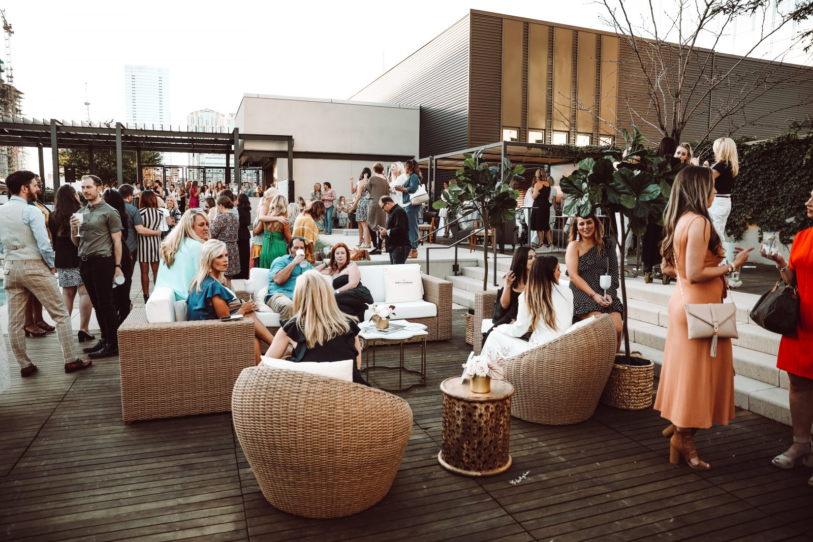 Nashville Edit Women's event on the rooftop of the Omni Hotel in Nashville, TN