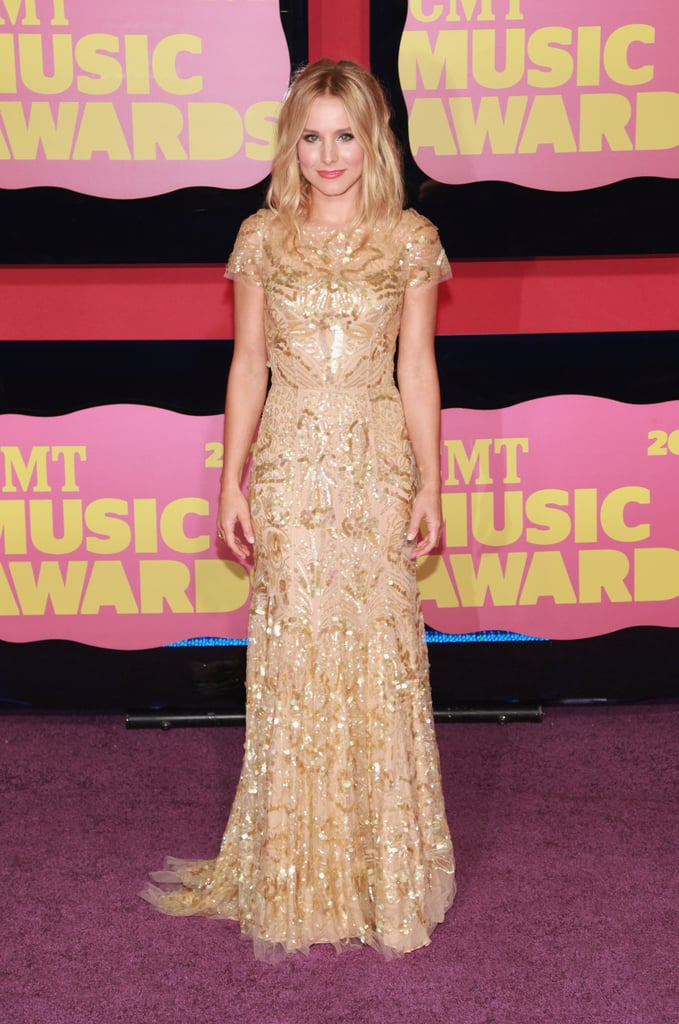 Kristen Bell at the CMT Awards in 2012, in Nashville TN. Best dressed of the CMT Awards.