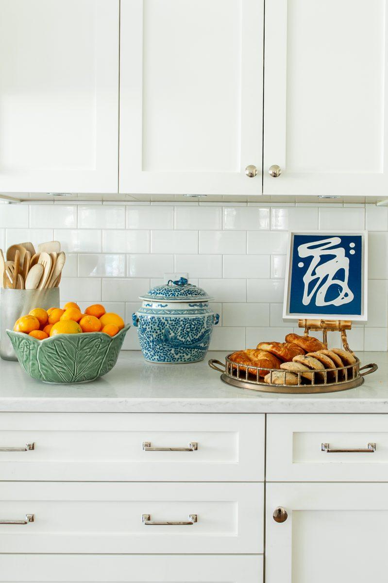 Clean white kitchen. Subway tile. Meg White Interior design for homes in Nashville, TN