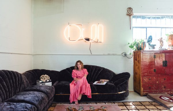 Retro lounge in the 2021 Relic home, featured in The Nashville Edit.