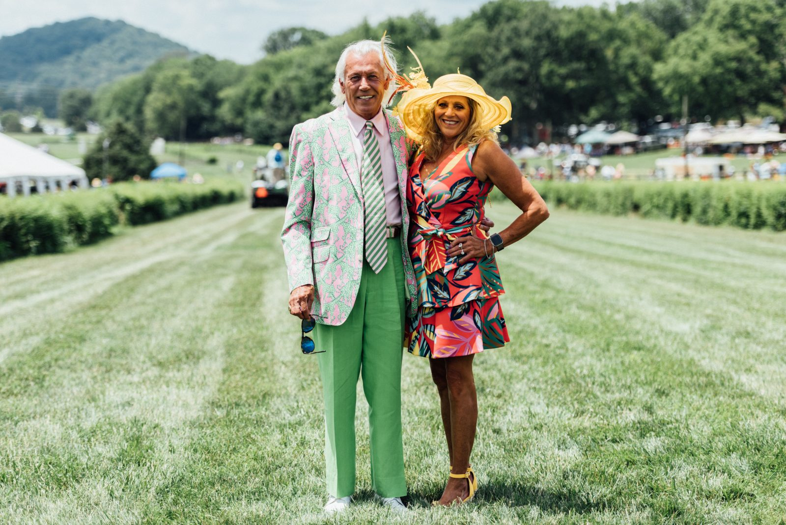 Pat Ryan and Kim Willis at the 2021 Steeplechase event featured in the Nashville Edit