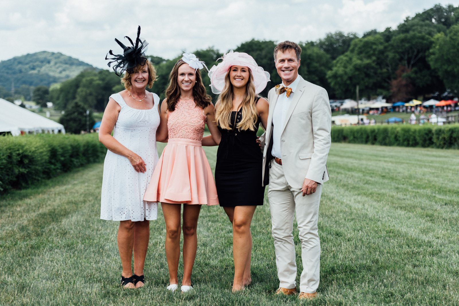 Steeplechase Fashion show featuring Kelly, Nicole, Jaclyn and Tom Kowalski. Nashville Fashion show