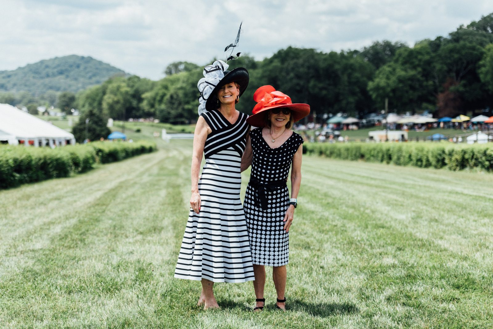 Jane McLeod and Mary Wick at Steeplechase