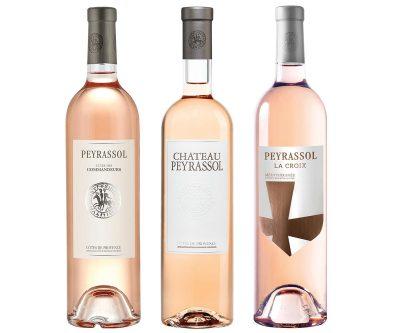 3 Rose options for summer parties. Peyrassol, Chateau Peyrassol, and La Croix Peyrassol