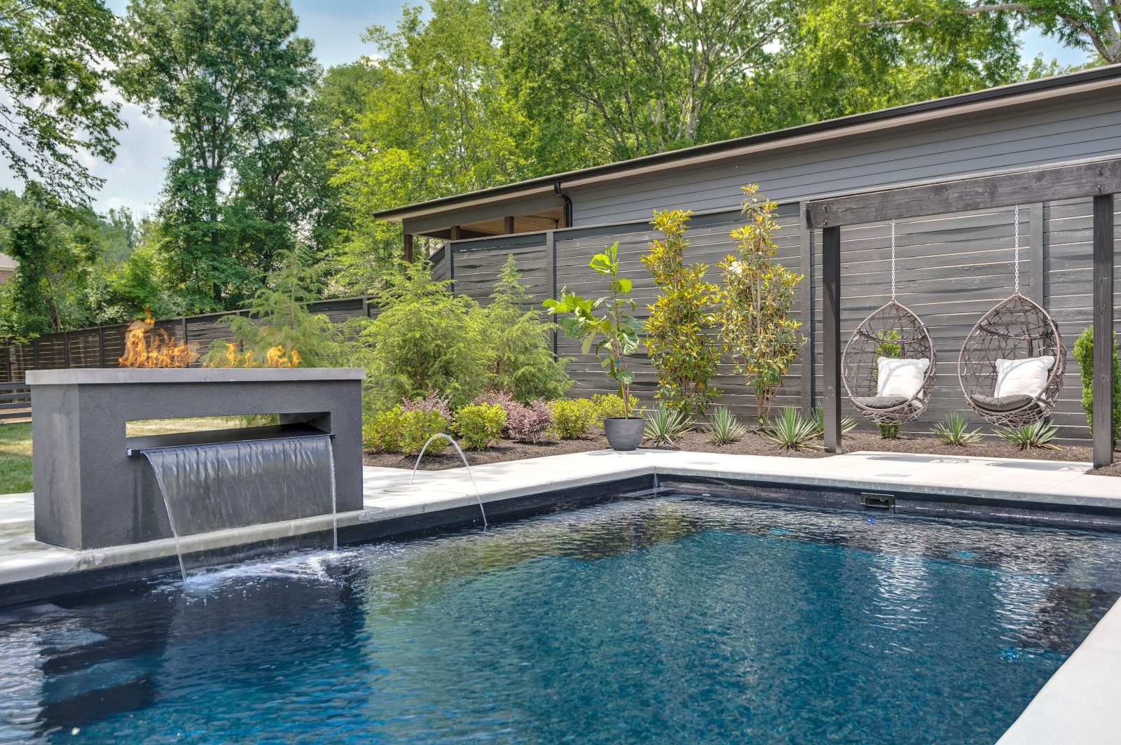 Backyard pool, hi-res backyard pool image in Green Hills TN