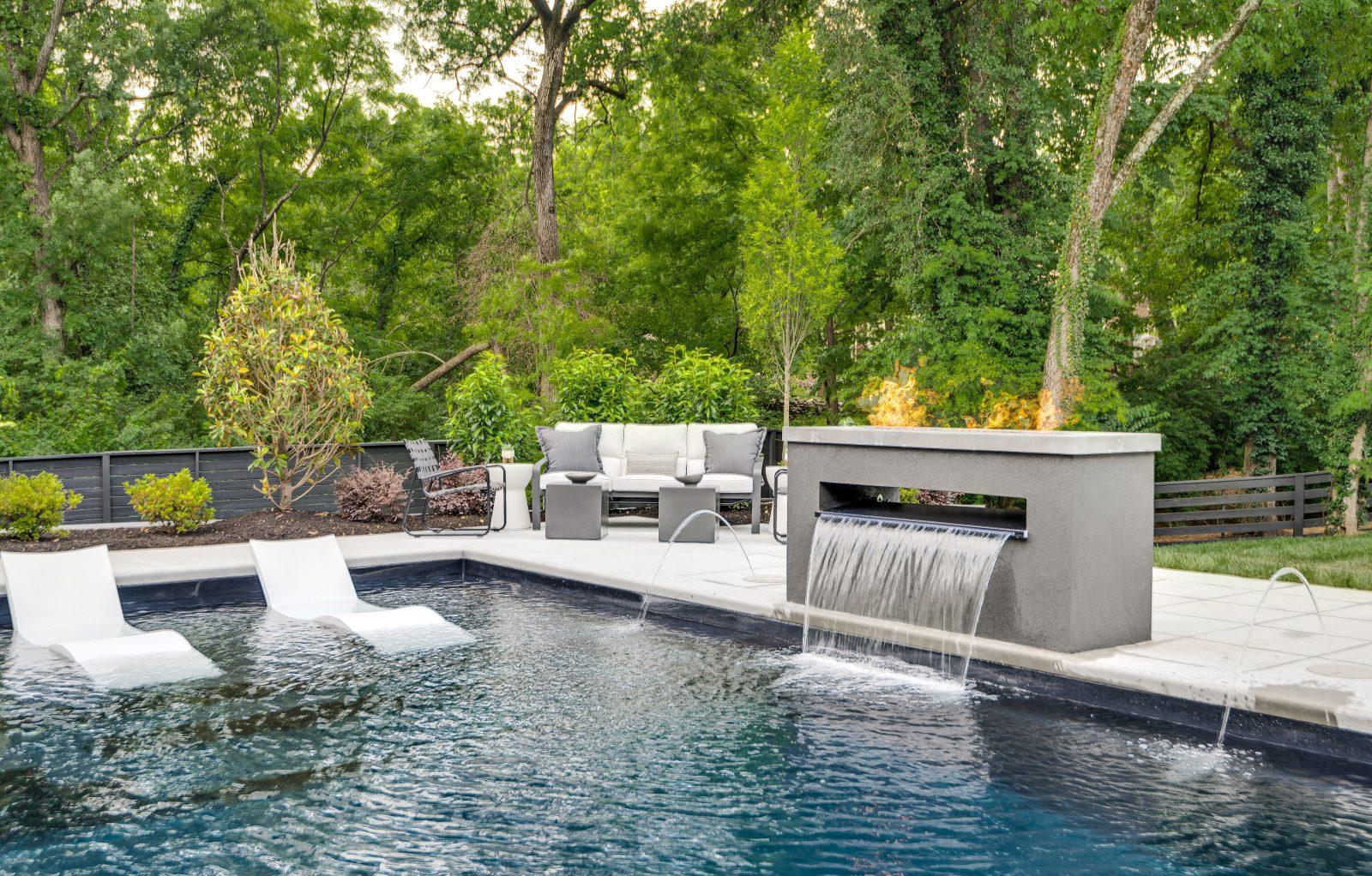 Backyard pool oasis in Nashville TN close to Green Hills TN