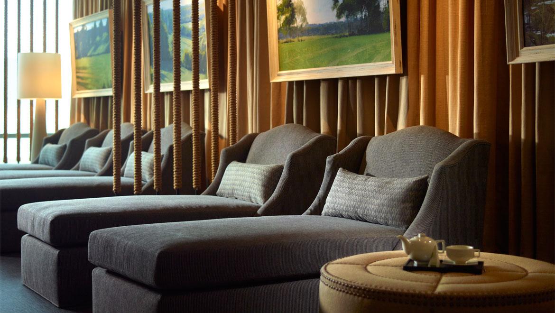 Enjoy the relaxation room at the Mokara spa at the Omni Hotel in Nashville, TN