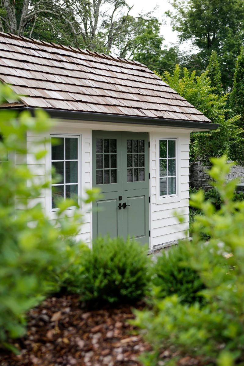 The hidden garden shed at the Denmark's backyard garden