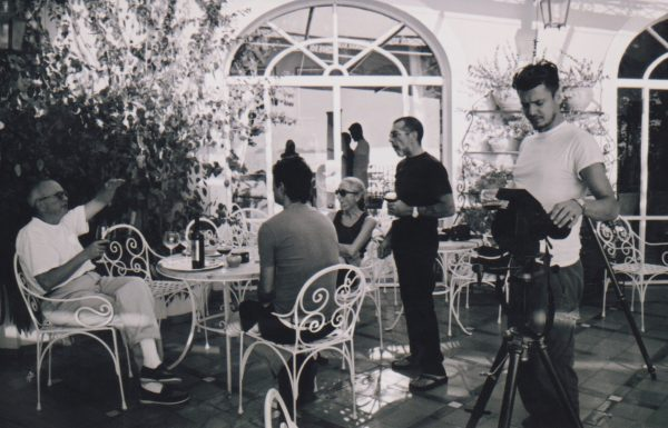 Glamour Positano photoshoot in black and white from 2002. Featured image in an online Nashville magazine