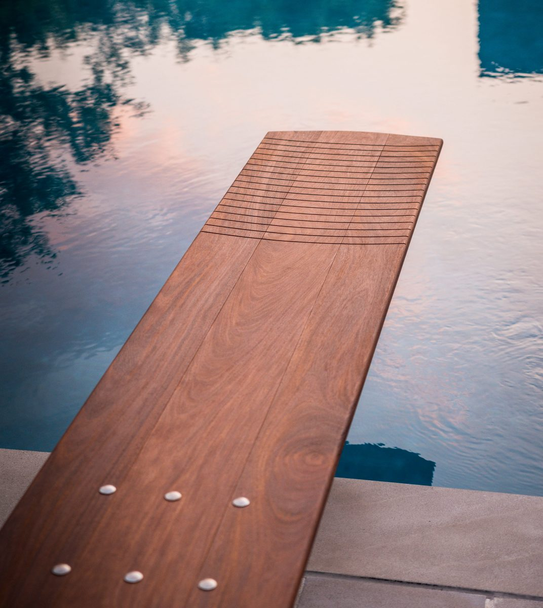 Custom blegian diving board made by Mikel Tube for Alan and Heather Looney in Nashville, TN