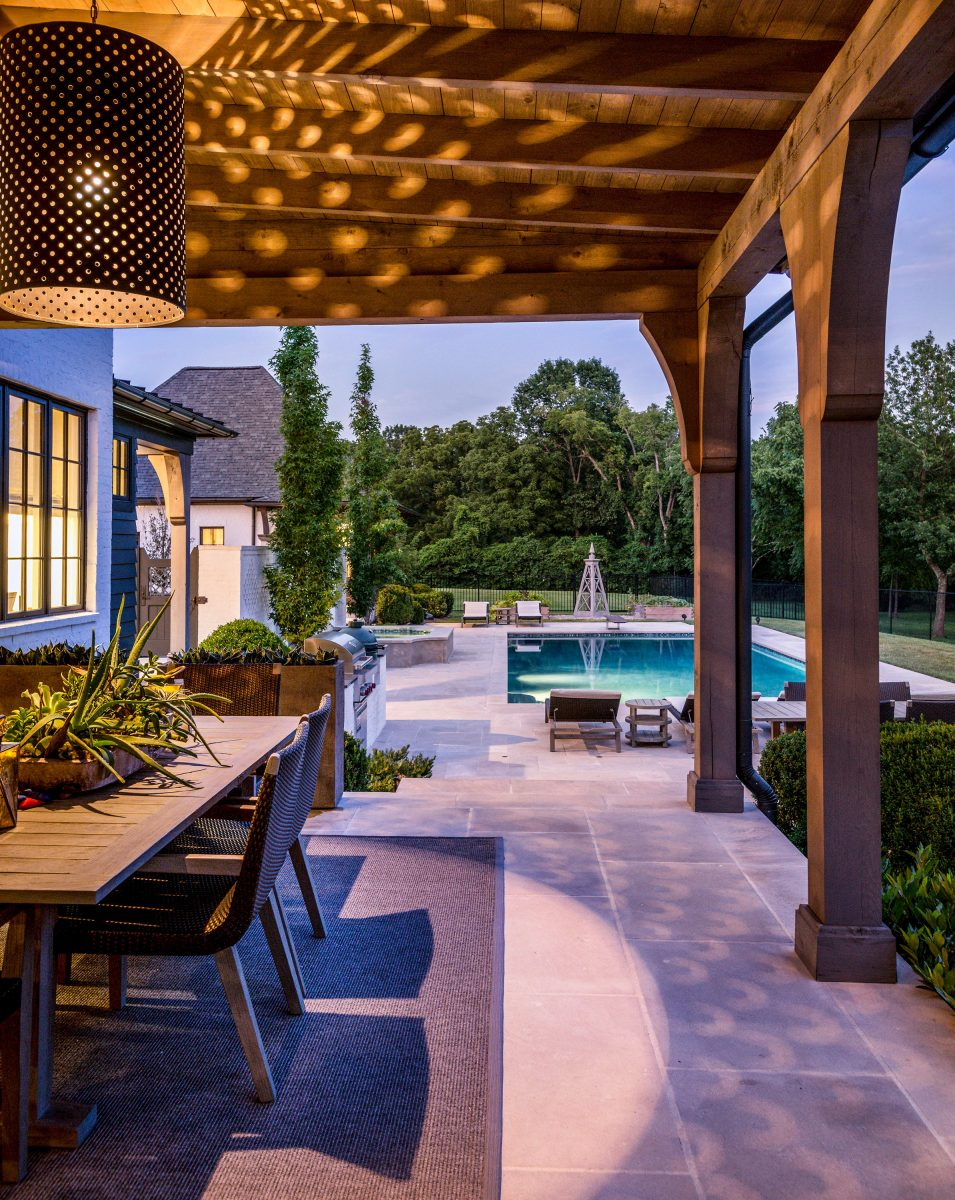 Backyard Envy, Castle Homes, furniture by Janus et Cie, lighting by Outdoor Lighting Perspectives
