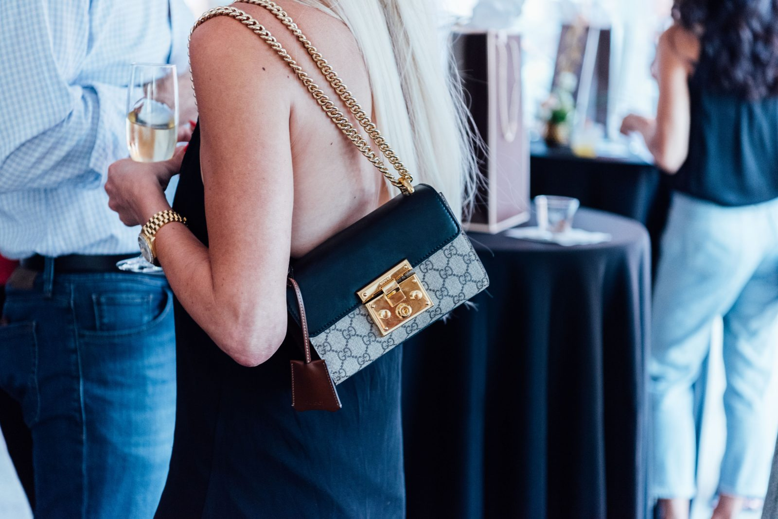 Vincent peach fine jewelry event, channel handbag
