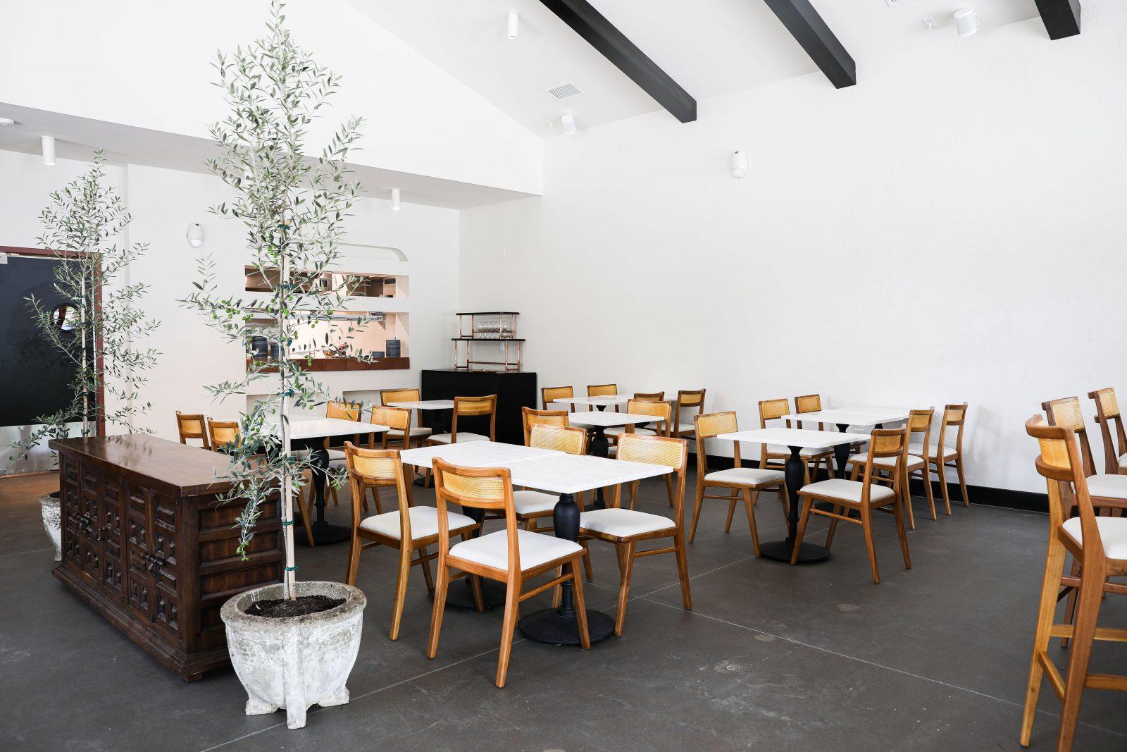 inside Lola Spanish tapas restaurant simple modern elegant