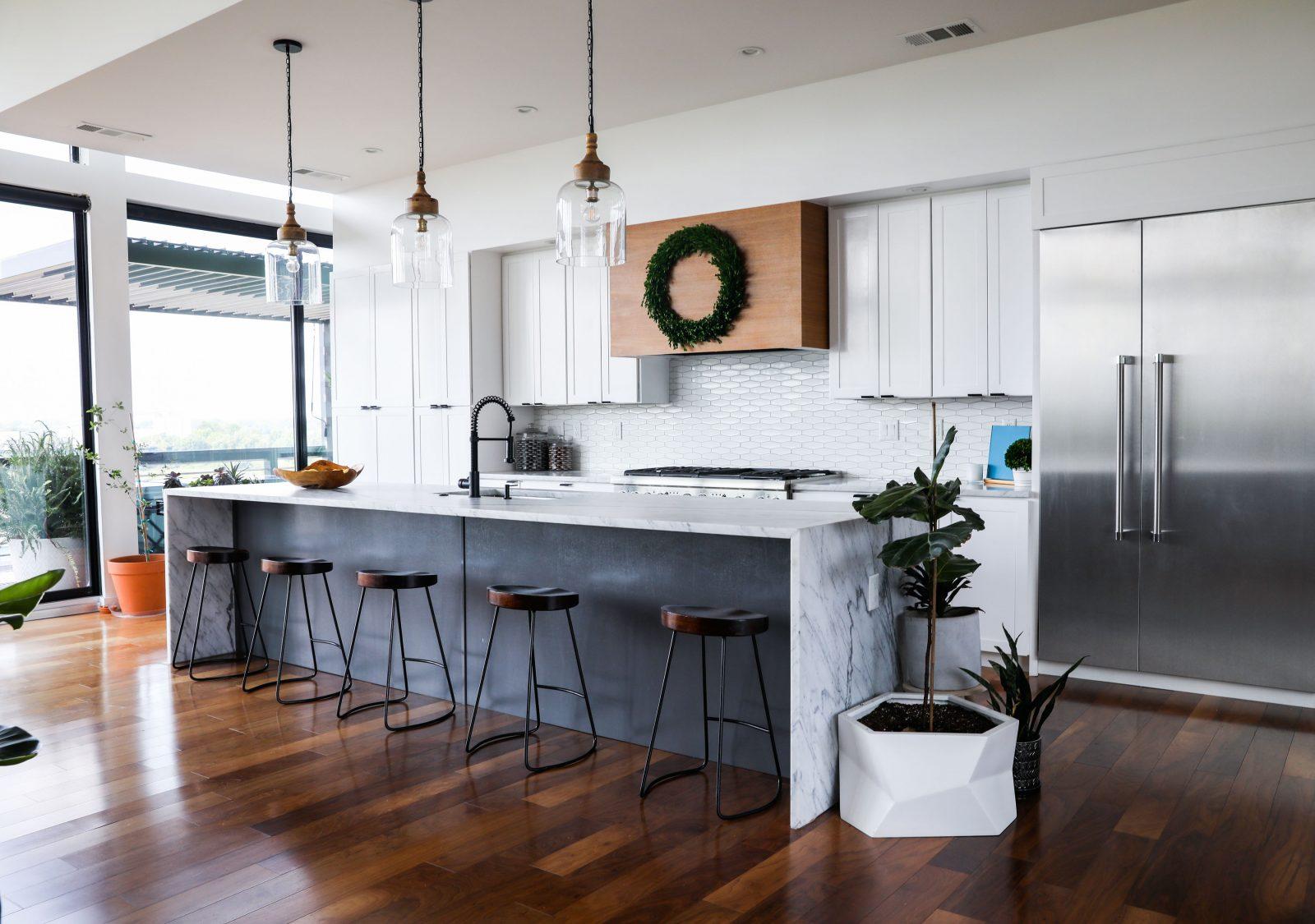 brooke and brice gilliam modern house in east nashville kitchen simple minimal white kitchen