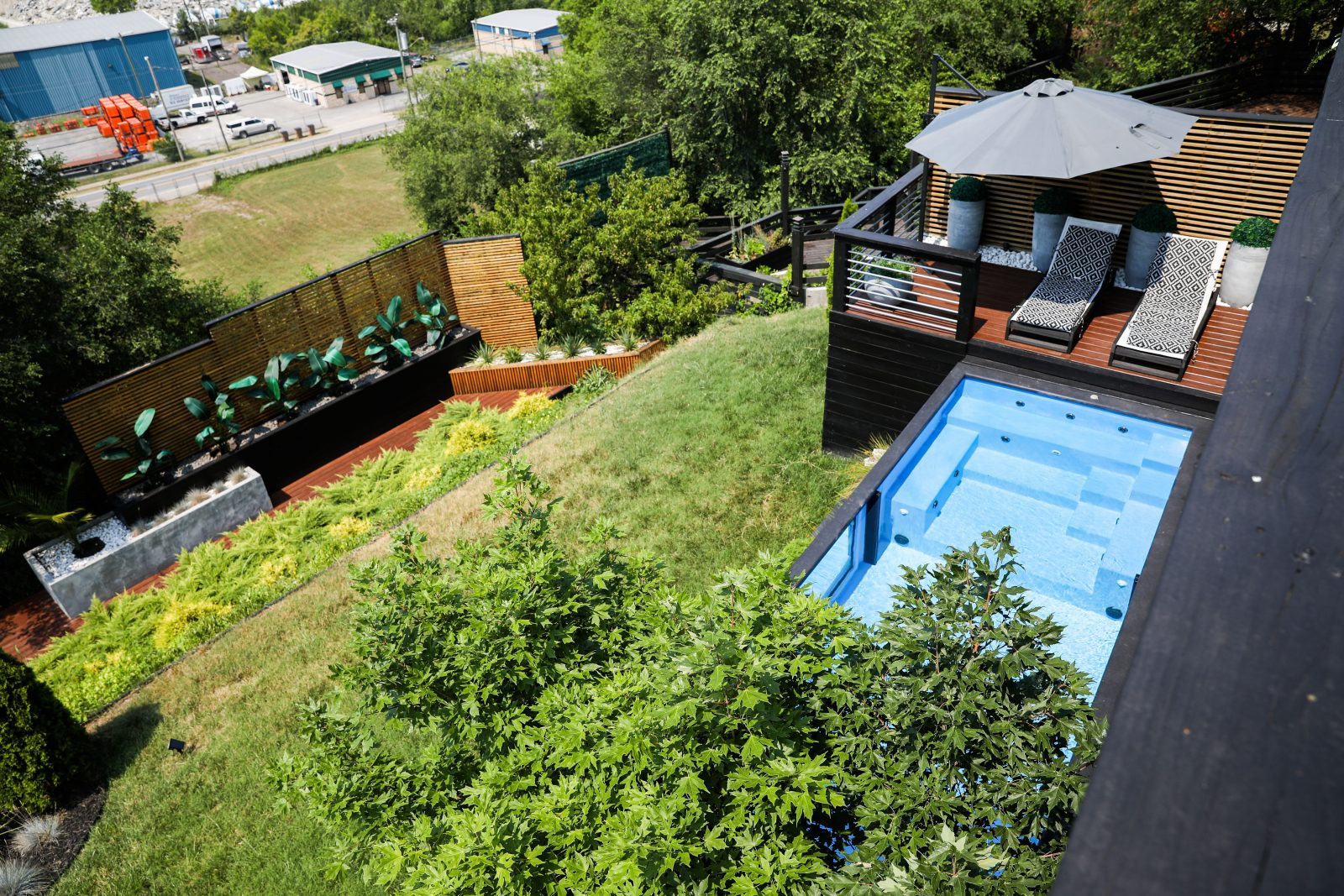 Brooke and brice gilliam house east nashville outdoor pool deck small backyard