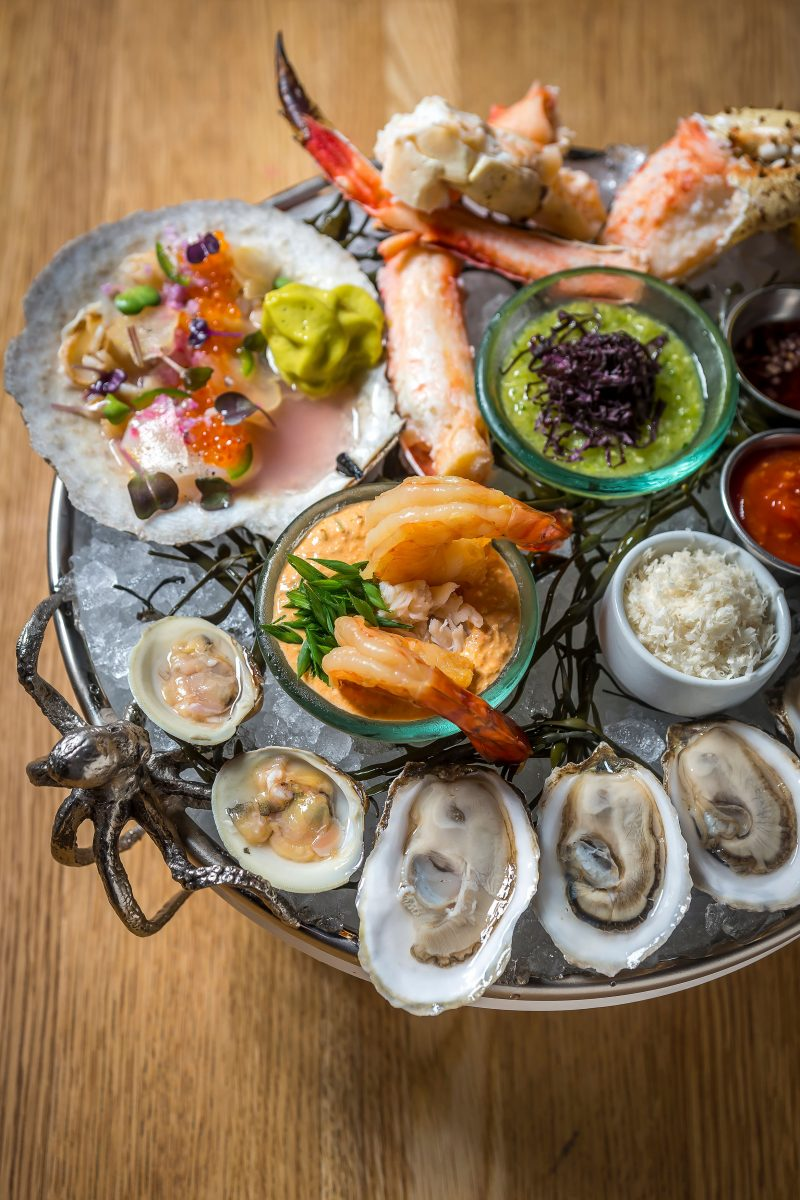 Seafood raw bar at The dutch at the W hotel in the gulch in downtown nashville