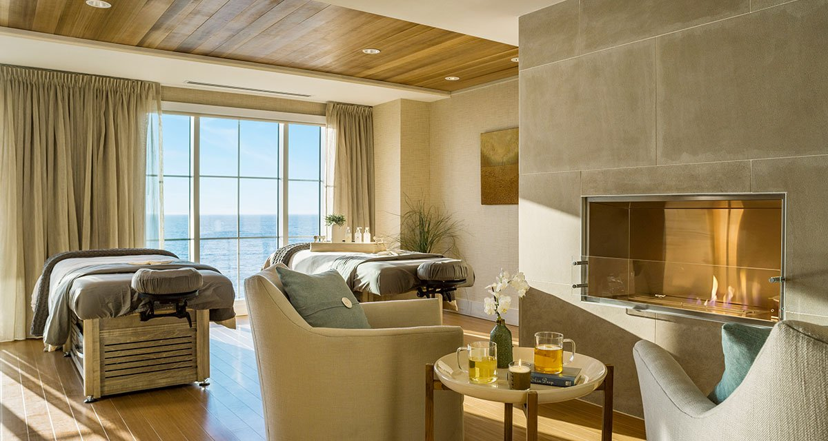 the spa at The cliff house in bald head cliff outdoor on the atlantic ocean luxury resort
