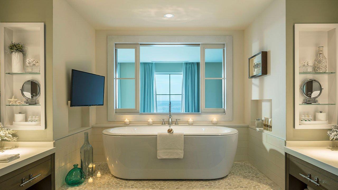 bathroom bathtub at The cliff house in bald head cliff outdoor on the atlantic ocean luxury resort