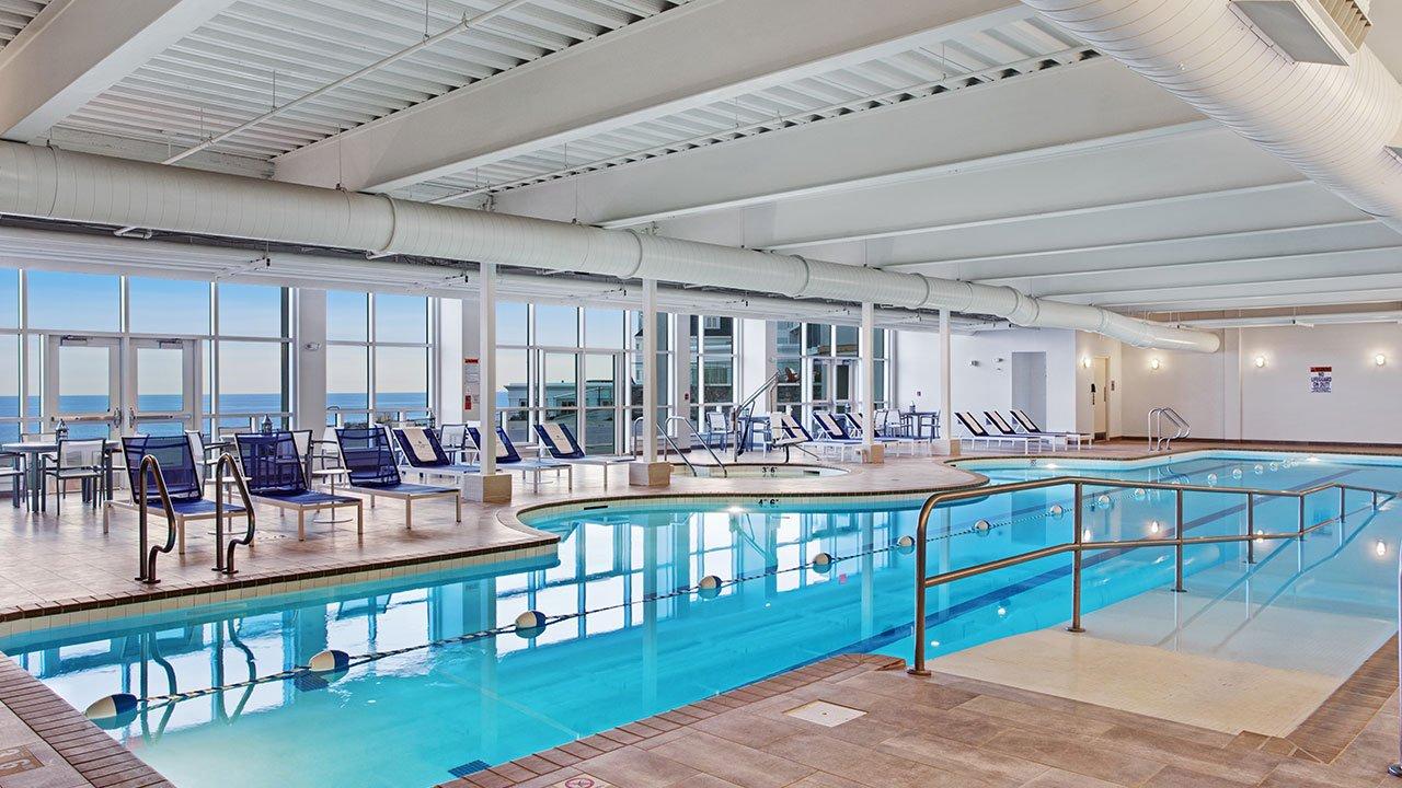 indoor pool at The cliff house in bald head cliff outdoor on the atlantic ocean luxury resort