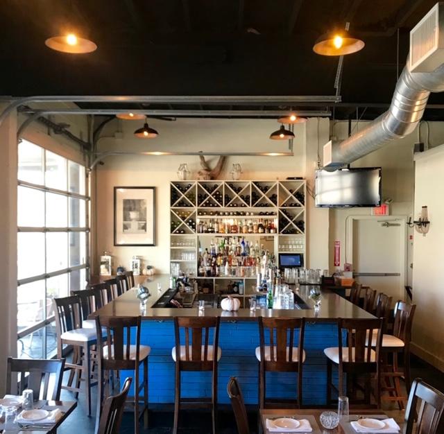 Nikanos Mediterranean Bar & Grille, Ogunquit, Maine indoor dining bar greek food