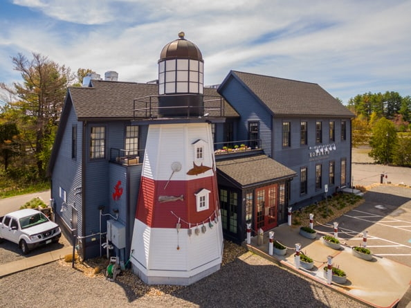 Lighthouse in maine at Robert's Maine Grille & Raw Bar, Kittery, Maine