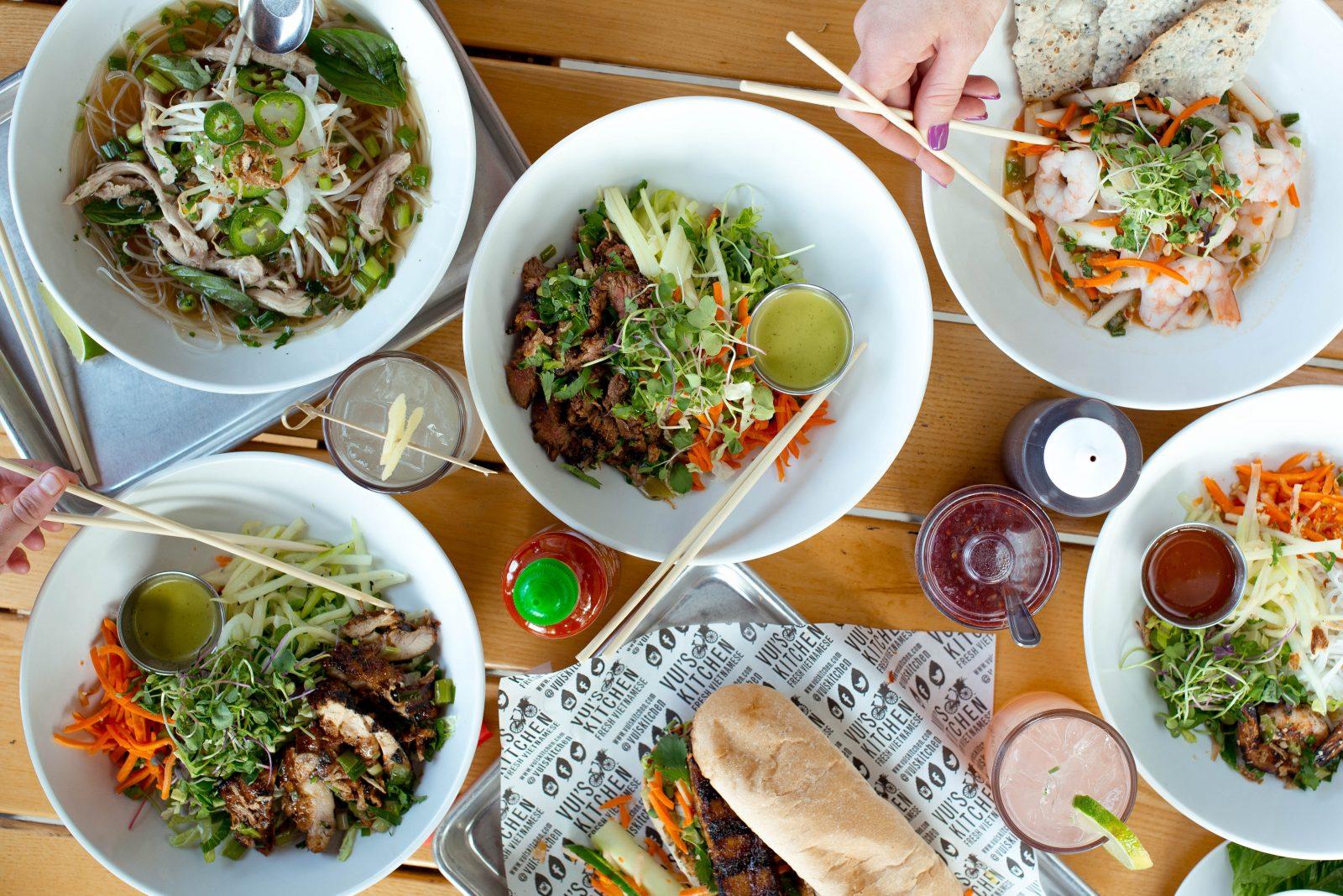 vui's kitchen Vietnamese food berry hill outdoor patio lunch