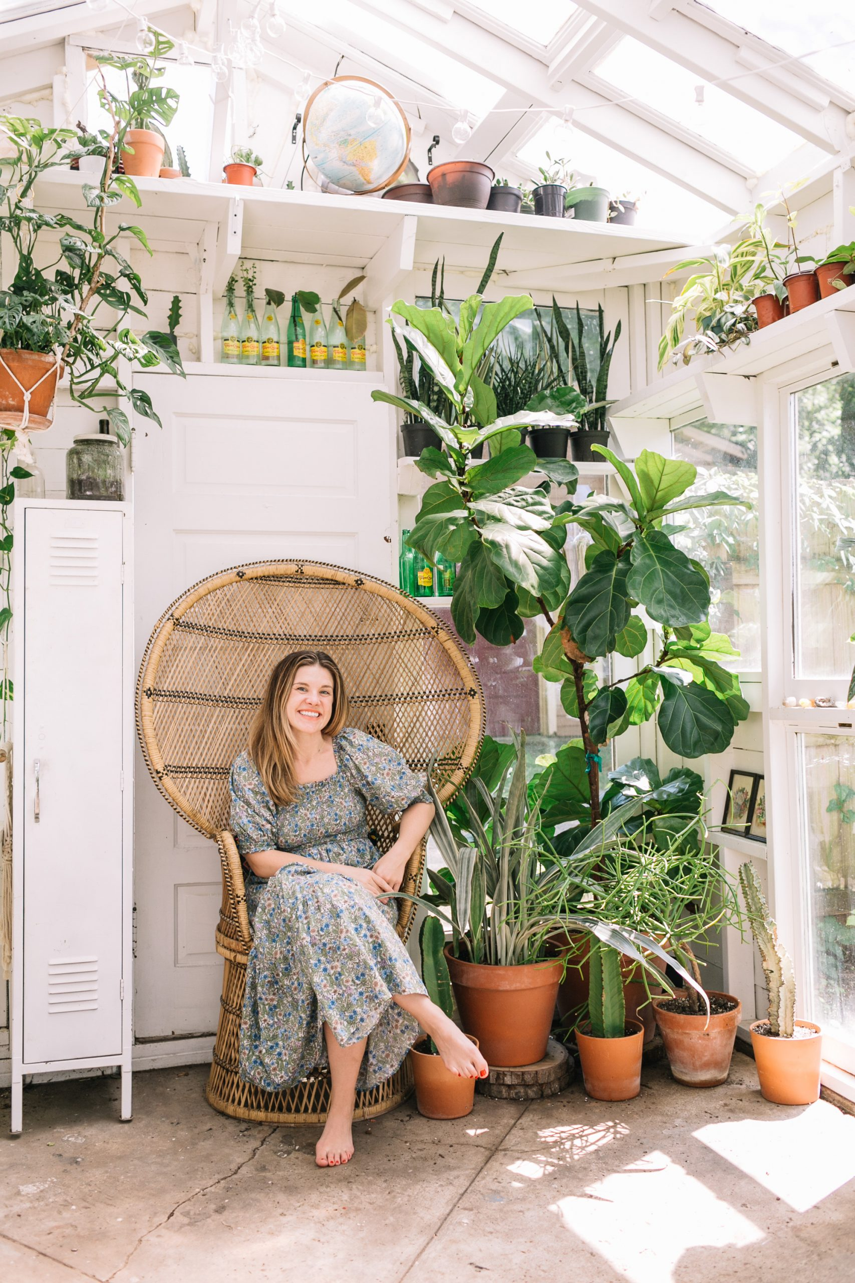 East Nashville Greenhouse plants backyard greenhouse owner Andi Teggart